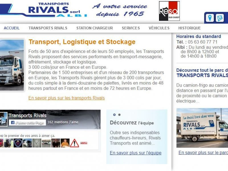 Site Internet Transports Rivals